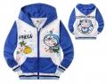 DOREMON Blue Jacket 日单卡通蓝色叮当猫印花纯棉毛圈前袋带帽外套 (Design 2)