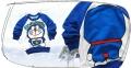 Disney Doremon LS Top 卡通蓝色叮当猫印花纯棉毛圈长袖 (Design 1)