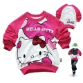 Disney Hello Kitty LS Top 印花纯棉毛圈长袖 (Design 1)