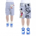 Disney Mickey Grey Quarters Pant 灰色米奇印花纯棉毛圈短裤(Design 3)