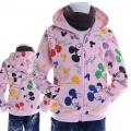 Disney Mickey Mouse Pink Jacket 粉红色米奇纯棉带帽外套 (Design 12)