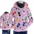 Disney Mickey Mouse Pink Jacket 粉红色米奇纯棉带帽外套 (Design 12)