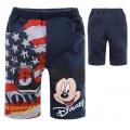 Disney Mickey Sapphire Blue Quarters Pant 宝蓝色米奇纯棉毛圈短裤(Design 6)