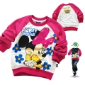 Disney Minnie Mouse LS Top 米尼印花纯棉毛圈长袖 (Design 3)