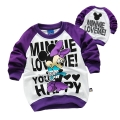 Disney Minnie Mouse LS Top 米尼印花纯棉毛圈长袖 (Design 5)