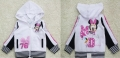 Disney Minnie Mouse White Hoodie Jacket 米尼白色带帽外套 (Design 2)