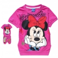 Disney Minnie Pink 2 Pcs Set 卡通梅红色米尼短袖套装(Design 1)