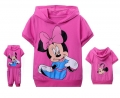 Disney Minnie Pink 2 Pcs Set 卡通梅红色米尼短袖套装(Design 2)