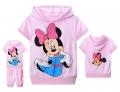 Disney Minnie Pink 2 Pcs Set 卡通粉色米尼短袖套装(Design 3)