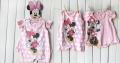 Disney Minnie Polkadots Pink 2 Pcs Romper Set 可爱米妮粉色哈衣哈裙二件装