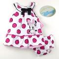 Disney Polkadots Minnie 2 Pcs Dress Set 红色圆点吊带裙