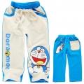 Doremon White Long Pant 卡通杏色叮当猫印花纯棉毛圈长裤 (Design 1)