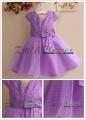 EUDORA Pearl Purple Party Dress 镶珠珠大蝴蝶结礼服洋装【紫】