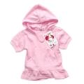 Europe Pink Hoodie Girl Top 欧洲品牌女童可爱连帽裙衫