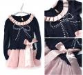 FP Korea Pearl Knot Black Dress 珍珠蝴蝶结款长袖连衣裙