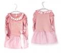 FP Korea Pearl Knot Pink Dress 珍珠蝴蝶结款长袖连衣裙
