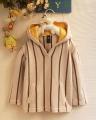 GAP Authentic Beige Hoodie Sweater 原单条纹连帽纯棉线毛衣【杏色】