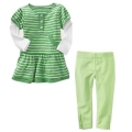GAP Green Stripe 2 Pcs Set 绿色条纹女童套装