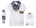 GCM Boy White Collar Tee 白色章仔贴布假两件纯棉T恤