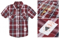GUESS Checked Collar Shirt 格子短袖衬衣 (Design 1)