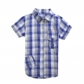 GUESS Checked Collar Shirt 格子短袖衬衣 (Design 3)