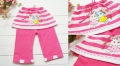 Girl Sweet Bunny Pink Skirt Legging 纯棉小兔裙裤