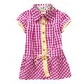HARRY BOBBY Pink Checker Dress 外贸粉红色格子梭织裙