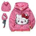HELLO KITTY Pink Hoodie Jacket 粉红色纯棉毛圈带帽外套 (Design 2)