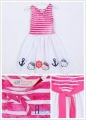 H&M Hello Kitty Pink Stripe Dress 针织条纹印花裙