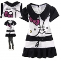 Hello Kitty Black Dress 卡黑色印花纯背心裙 (Design 4)