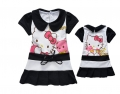 Hello Kitty Black Dress 卡黑色印花纯背心裙 (Design 5)