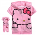 Hello Kitty Pink 2 Pcs Set 印花纯棉套装 (Design 9)