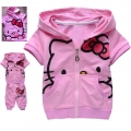 Hello Kitty Pink 2 Pcs Set 印花纯棉套装(Design 7)