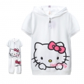 Hello Kitty White 2 Pcs Set for Adult 印花纯棉套装 (Design 2)