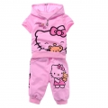 Hello Kitty Pink 2 Pcs Set 印花纯棉套装 (Design 13)