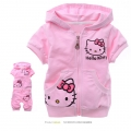Hello Kitty Pink 2 Pcs Set 印花纯棉套装 (Design 14)