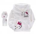 Hello Kitty White 2 Pcs Set 印花纯棉套装 (Design 2)-Restock