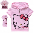 Hello Kitty Pink 2 Pcs Set 印花纯棉套装 (Design 6)