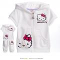 Hello Kitty White 2 Pcs Set 印花纯棉套装 (Design 11)