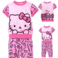 Hello Kitty Pink 2 Pcs Set 印花纯棉套装 (Design 12)
