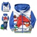 Hot Pet Angry Bird Jacket 卡通蓝色愤怒的小鸟印花纯棉带帽外套 (Design 2)