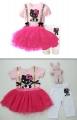 KT Girl Pink 2 Pcs Set 女童套装连衣裙打底裤2件套装