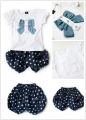 Korea 2 Pcs Set 女童韩版夏季套装