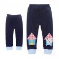 Korea Bear Dark Blue Legging 韩单深蓝色小熊贴布针织打底裤