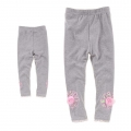 BOBOHOUSE Rose Grey Legging 花灰色立体花拉架打底裤