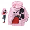 Korea  Mickey Mouse LS Hoodie Sweater 米奇印花烫钻毛线帽衫