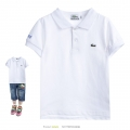 LACOSTE White Collar Tee 白色纯棉POLO衫