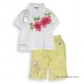 Little Girls 2 Pcs White Suit 法单白色套装