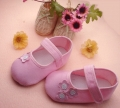 Lovely Flowers Pink Baby Crib Shoe 粉色花花鞋