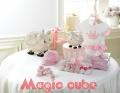 MAGIC CUBE Crown White Romper 全棉针织平纹连身衣衣裙
